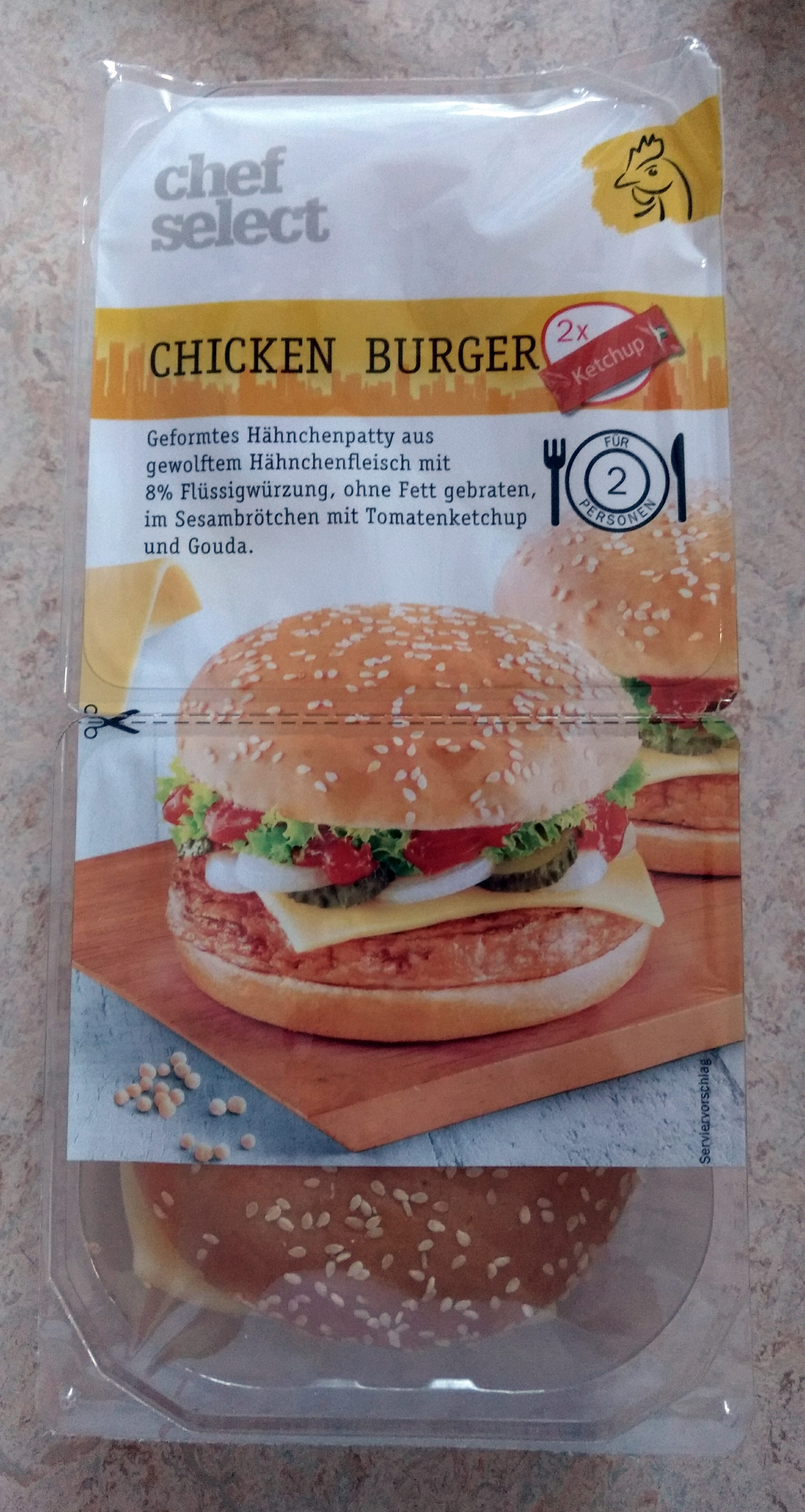 Chef Select Chicken Burger - Produkt - de