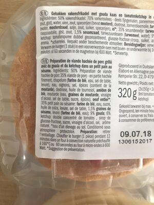 Cheeseburgers - Ingrediënten