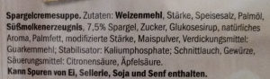 Spargelcreme Suppe - Ingredients