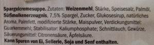 Spargelcreme Suppe - Ingredients - de