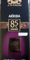 Chocolat noir Arriba 85% cacao - Producto - fr