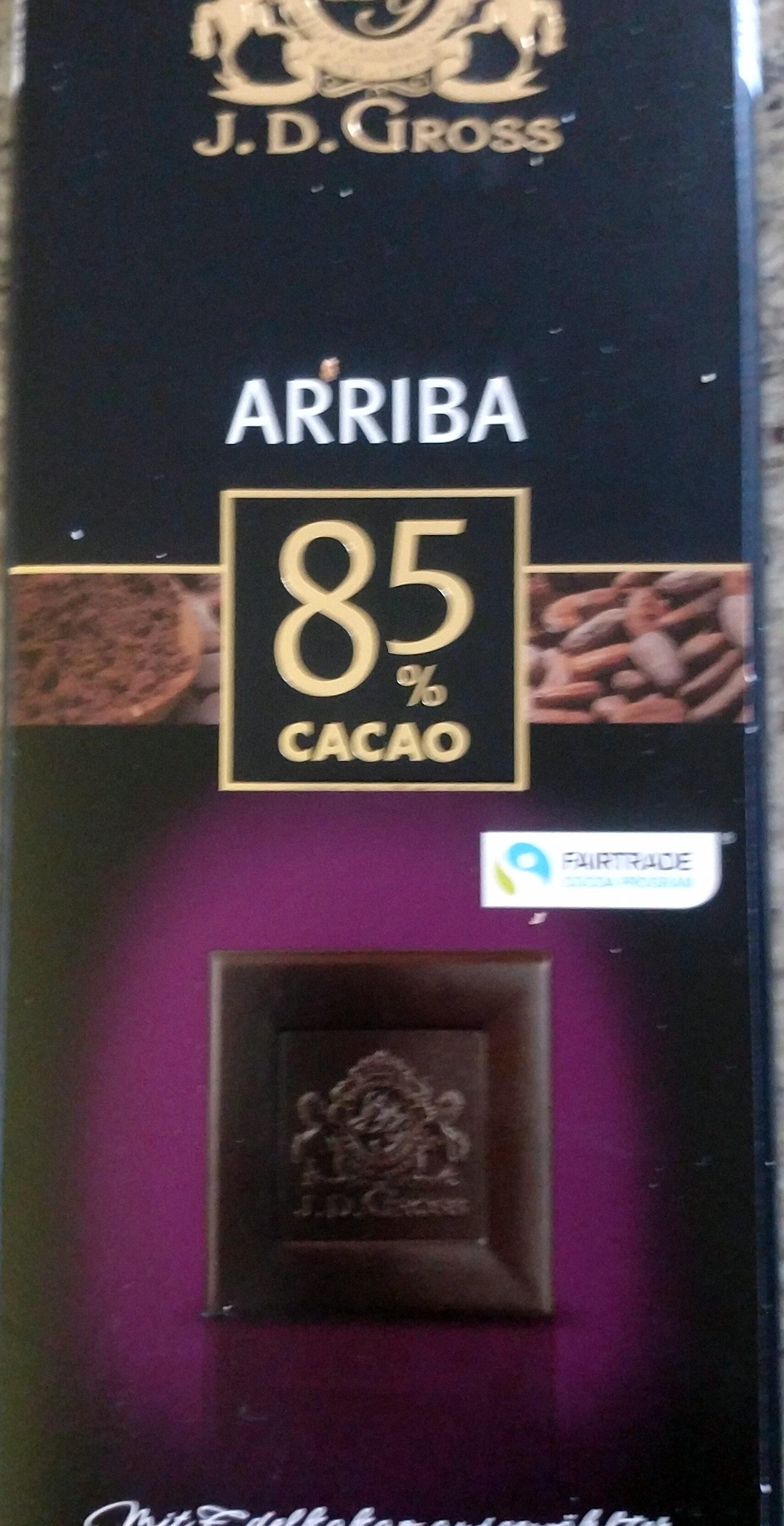 Chocolat noir Arriba 85% cacao - Prodotto - fr