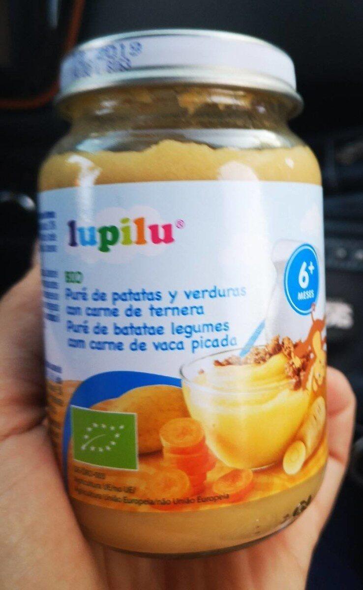 Puré de patatas y verduras con ternera Lupilu - Producte