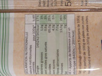 Spaghetti blé complet - Informations nutritionnelles - fr