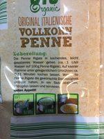 Bio penne rigate au blé complet - Ingrédients