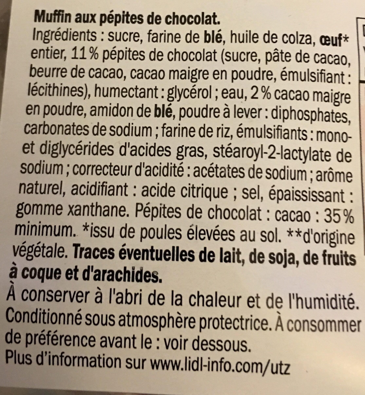 Muffins x4 - Ingredients - fr