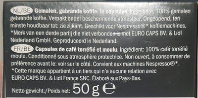 Café Intenso Expresso - Ingredientes - fr