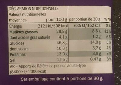 Cacahuètes enrobées goût épicé - Informations nutritionnelles - fr