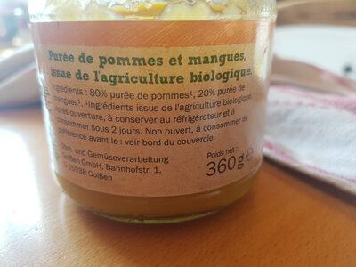 Bio purée de fruits pomme mangue - Ingrediënten
