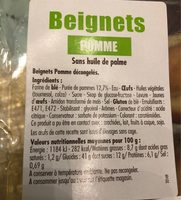 Beignets Pomme - Ingrédients - fr