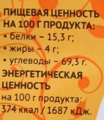 Крекер крендель солёный - Nutrition facts - ru