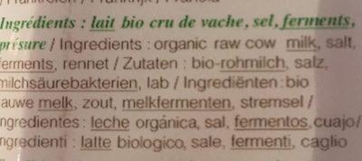 Comte - Ingredients - fr