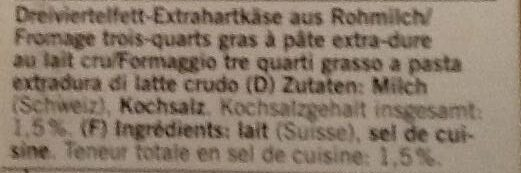 Duro Prix Garantie - Ingrediënten - de