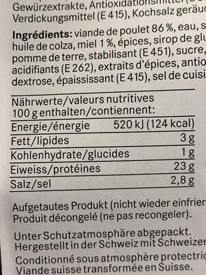 Honey chicken strip - Informations nutritionnelles - fr