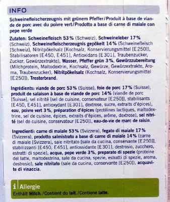 Terrine au poivre - Ingredients - fr