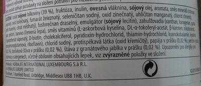 formula 1 s příchutí malin a borůvek - Ingredientes