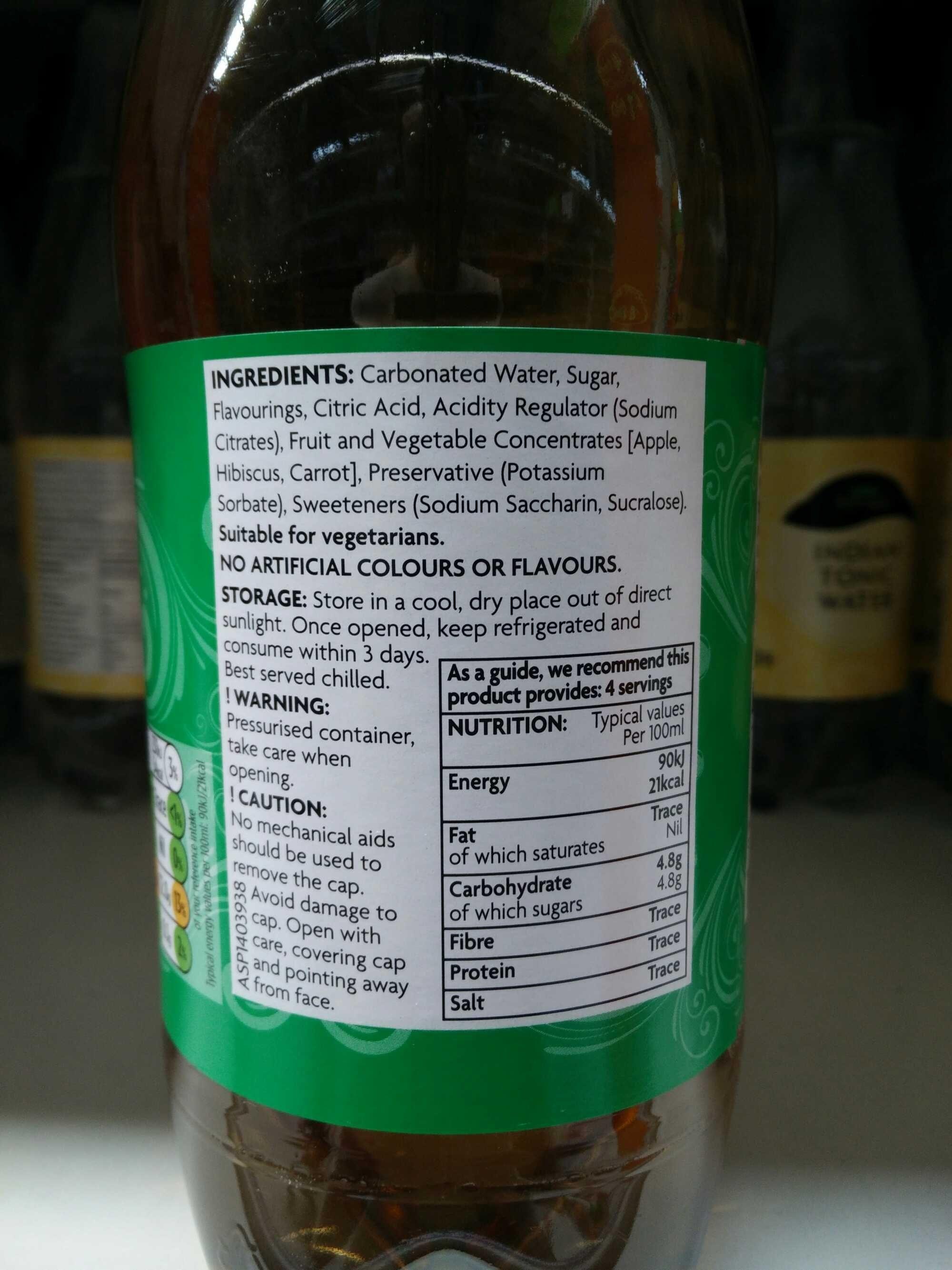 ginger ale - Ingredients - en