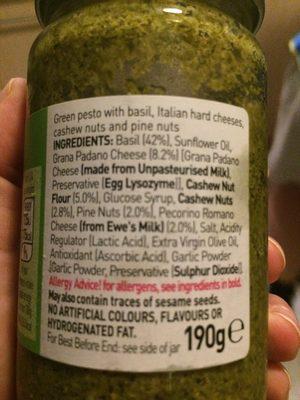 Asda Green Pesto Sauce - Ingredients