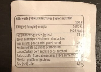 Le Gruyère salé AOP - Informazioni nutrizionali - fr