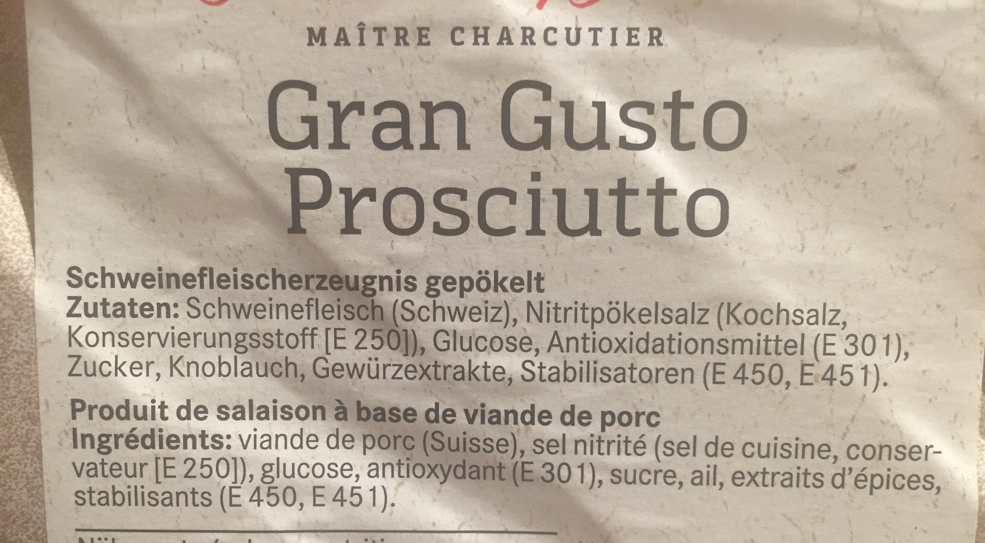 Gran Gusto prosciutto - Ingredienti - en