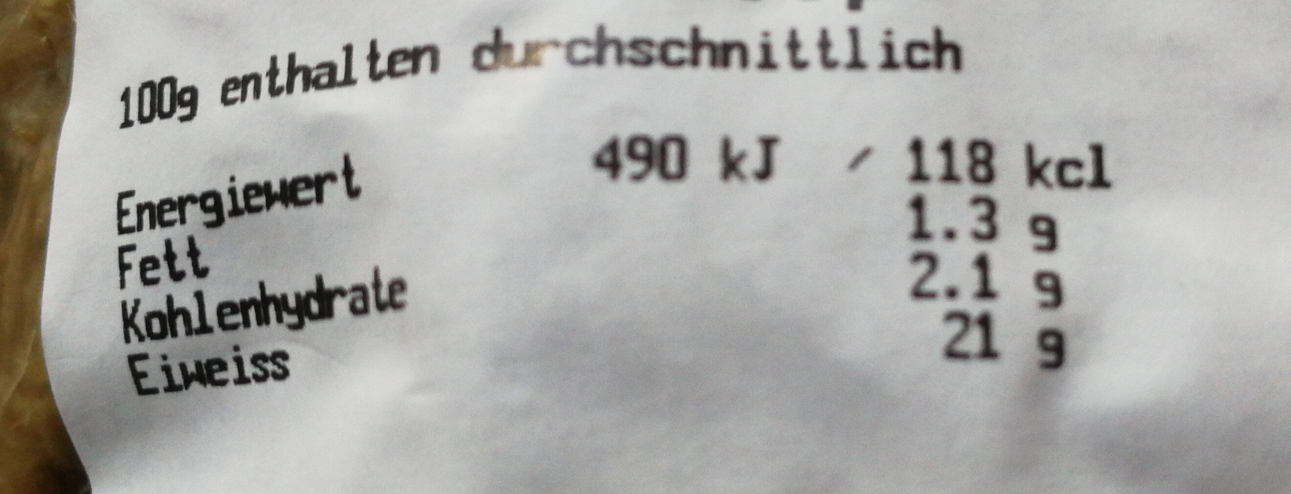Bio-Seitan geschnetzelt Knospe - Informations nutritionnelles - de