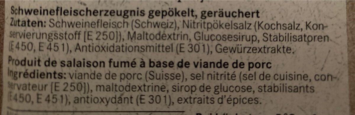 Burehamme / jambon de campagne - Ingrédients - fr