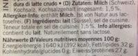 Le gruyère Switzerland - Ingredients - fr
