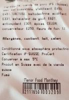 jambon fleur de foin IPS - Ingredients - fr