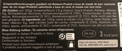 Bocconcini di salame - Ingredienti - de