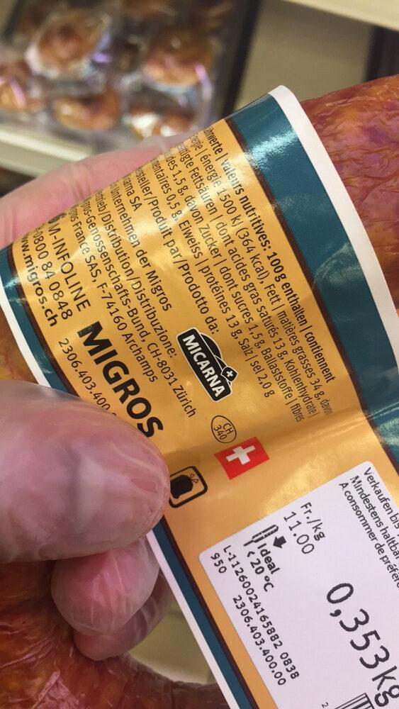 Saucisse aux choux - Ingredients