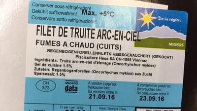 Filets de Truite Fumés du Pays - Ingrédients