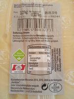Erzherzog Johann - Nutrition facts