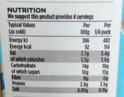 Ready to serve Custard - Nutrition facts - en