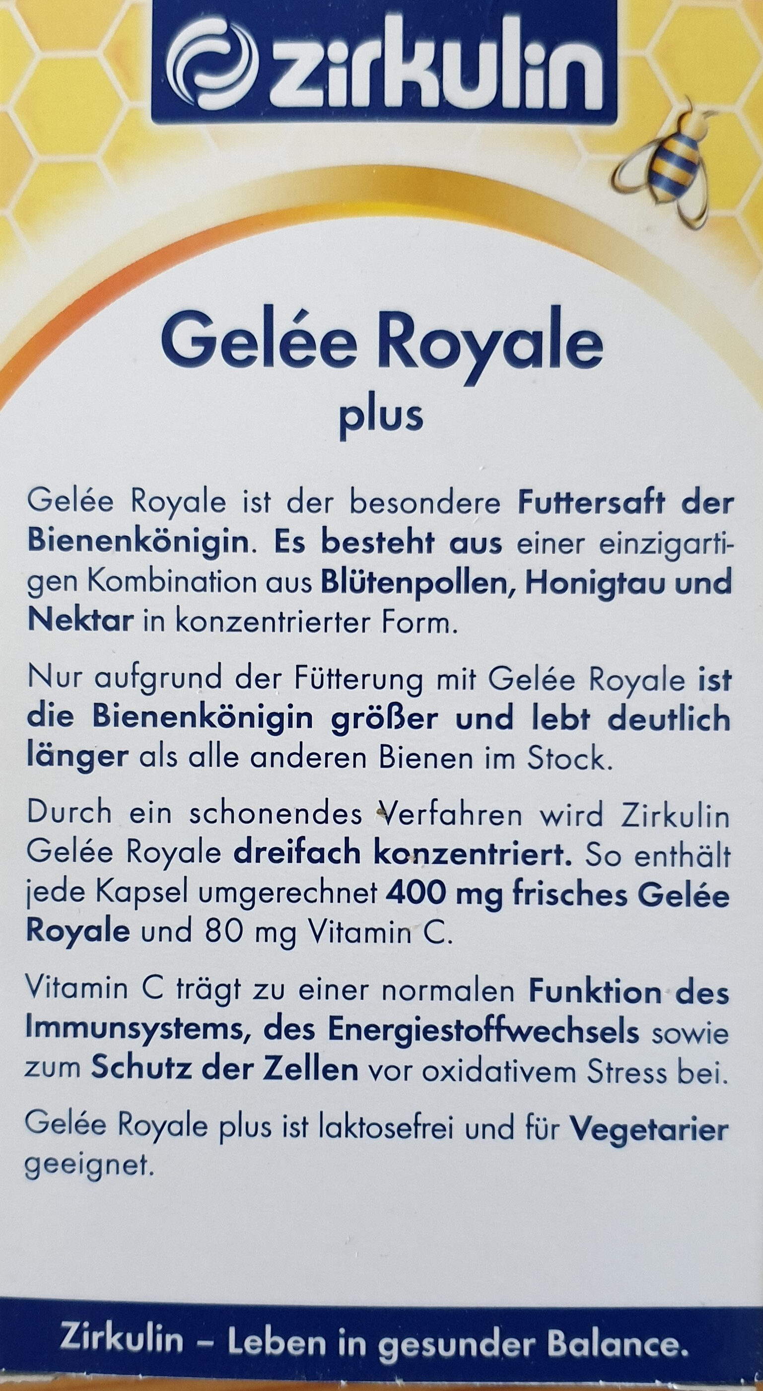 Gelee Royale plus - Produkt