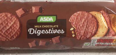 Milk chocolate digestives