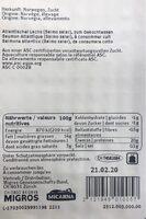 Filet de saumon sans peau ASC - Informations nutritionnelles - fr