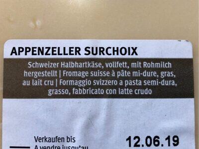 Appenzeller - Ingredienti - fr