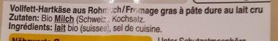 Le Gruyère - Nutrition facts