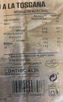 Lomo de cerfo a la toscana - Informations nutritionnelles - es