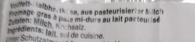 Fontal - Ingredienti - fr