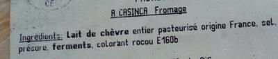 a casinca - Ingrediënten - fr
