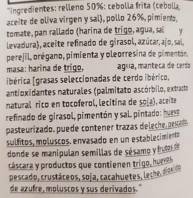 Empanada de pollo - Ingredients