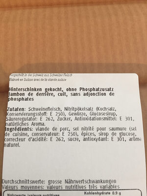 Jambon de derrière - Ingredienti - fr
