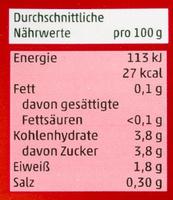 Tomaten passiert - Informations nutritionnelles