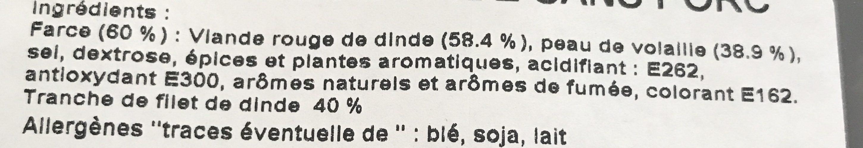 Paupiettes de dinde - Ingredients