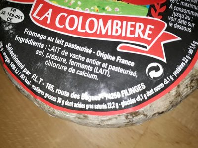 Tommettes des Alpes env 300G - Nutrition facts - fr