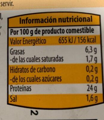 Pollo asado - Nutrition facts - es