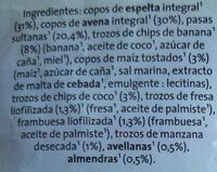 Muesli de espelta y frutas - Ingredientes