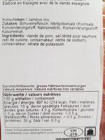 Jamón serrano español - Informazioni nutrizionali - fr