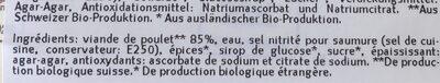 Poitrine de poulet fumé - Ingredients - en